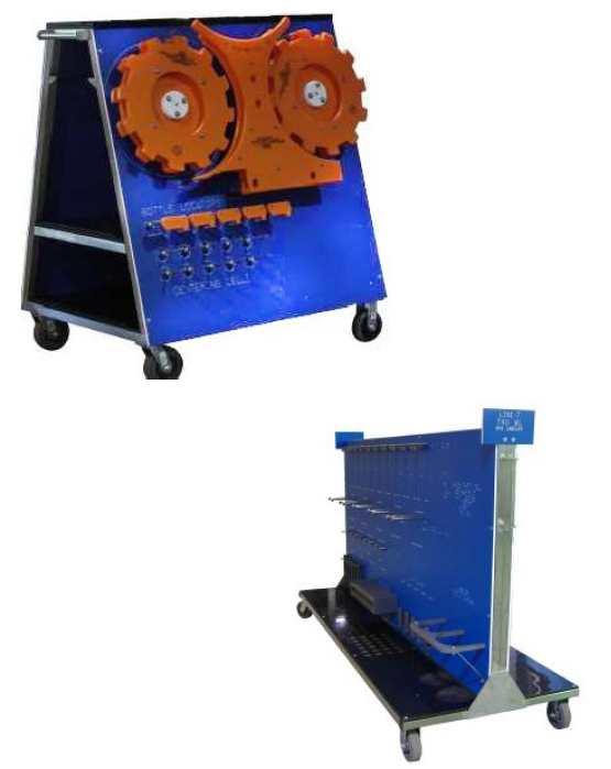 Change Part Storage Solutions, Bottle filler change part trolley, Star Wheels Storage Solutions
