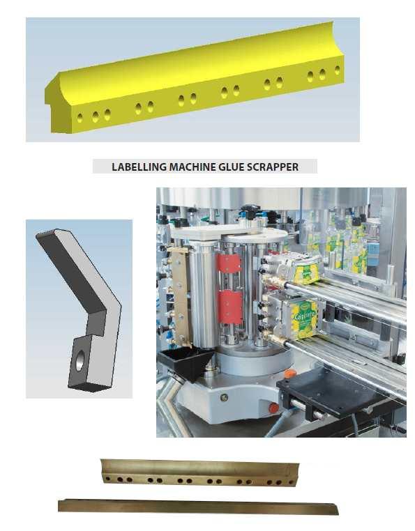Cold Glue Labelling Machine Glue Scraper parts, Bottle Labeller Glue Scraper parts, Bottle Labeler Glue Scraper parts