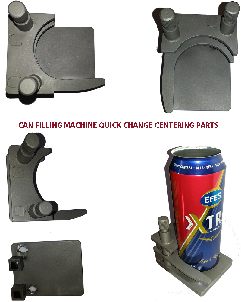 Can Filling Centering Parts, Can Filling Change Parts, Can Filler Quick Change Centering Parts, Can Filler Replacement Parts