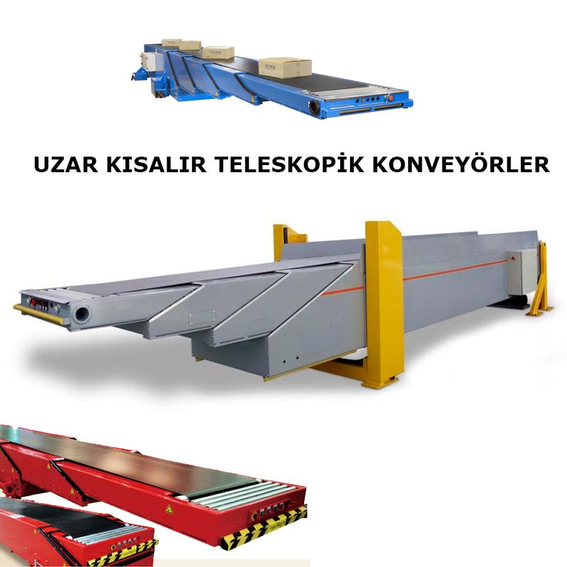 Telescopic Belt Conveyors, Truck loading telescopic belt conveyors