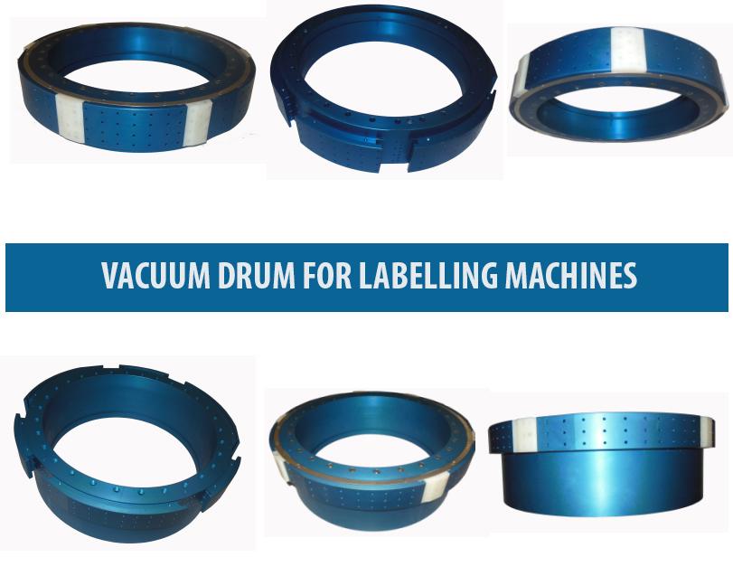 Vacuum Drum for Labeler , OPP Labelling Machine Vacuum Drums, Roll-Fed Labeller Vacuum Drum, Labeller Vacuum Drum